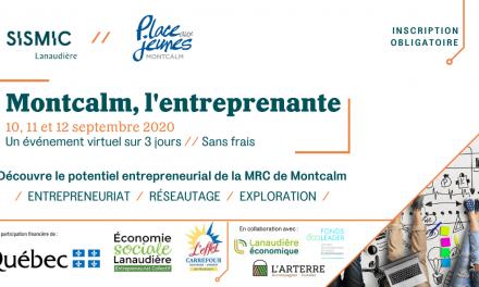 Découvre le potentiel entrepreneurial de Montcalm