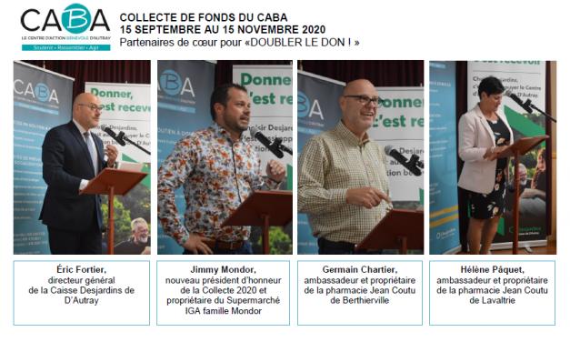 Le milieu des affaires s'unit pour la campagne de financement du CABA