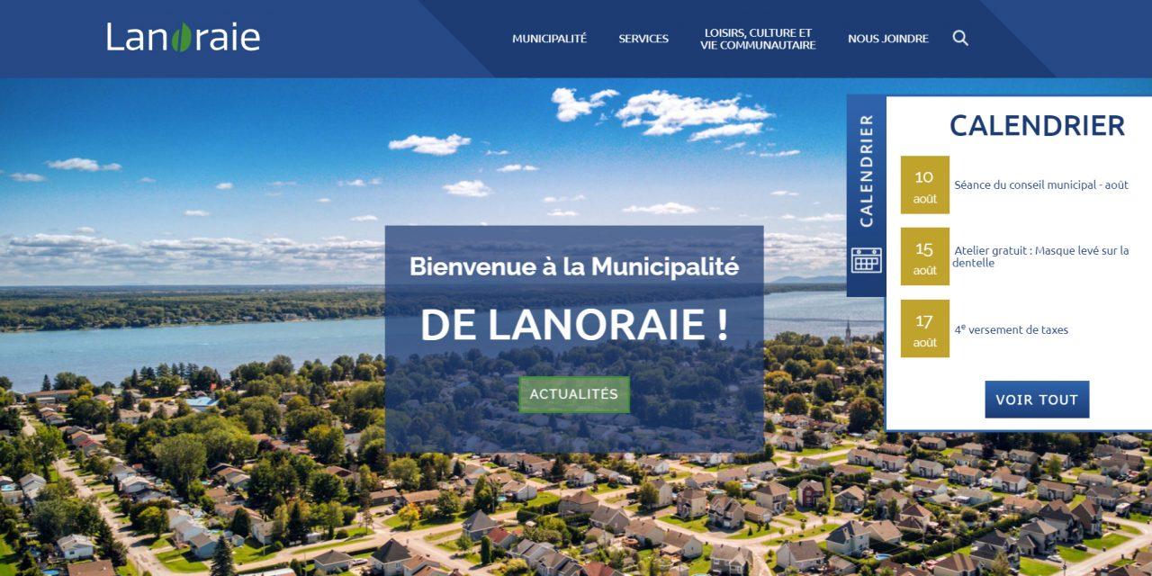 Un tout nouveau site Web pour la Municipalité de Lanoraie