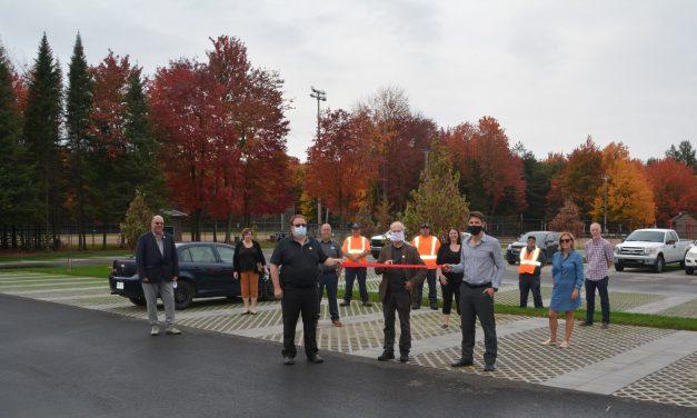 Inauguration du stationnement vert