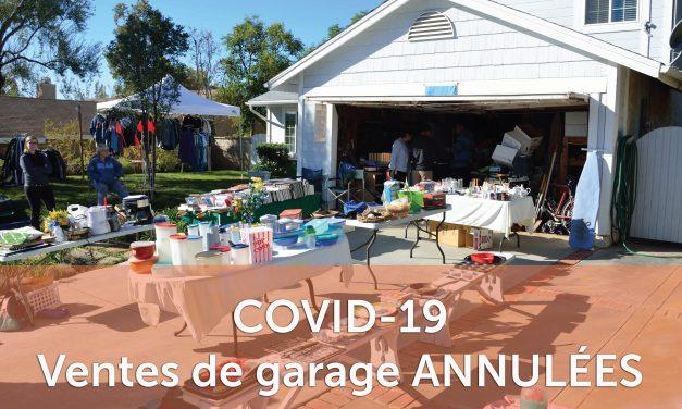 Ventes de garage ANNULÉES à Sainte-Julienne