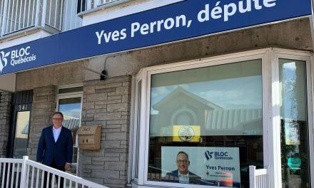 Le bureau de circonscription du député Yves Perron passe en mode en télétravail