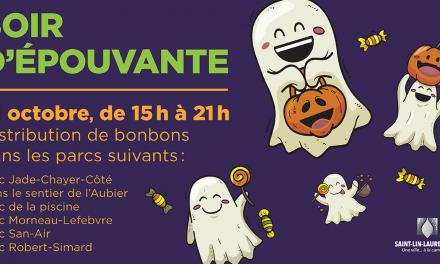 Halloween à Saint-Lin-Laurentides : un soir d'épouvante repensé est proposé aux petits monstres