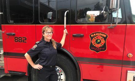 Prévention incendie – Une inspirante capitaine à Rawdon