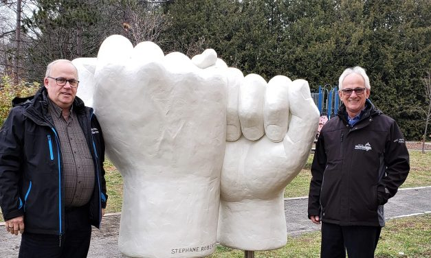 Une deuxième sculpture dans le paysage montcalmois !