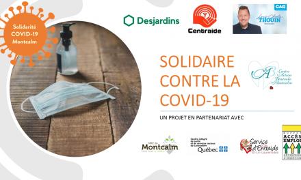 Solidarité COVID-19 Montcalm : des mesures sanitaires pour éviter la propagation du virus