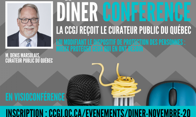 La Chambre de Commerce du Grand Joliette reçoit  le Curateur Public du Québec