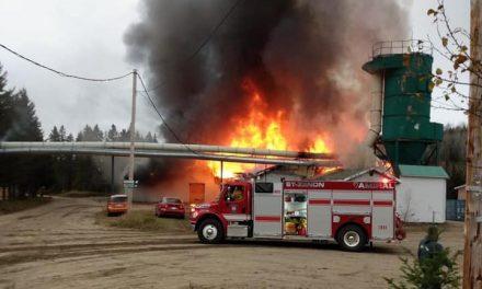 Saint-Zénon : incendie majeur chez Bois-Franc Lanaudière