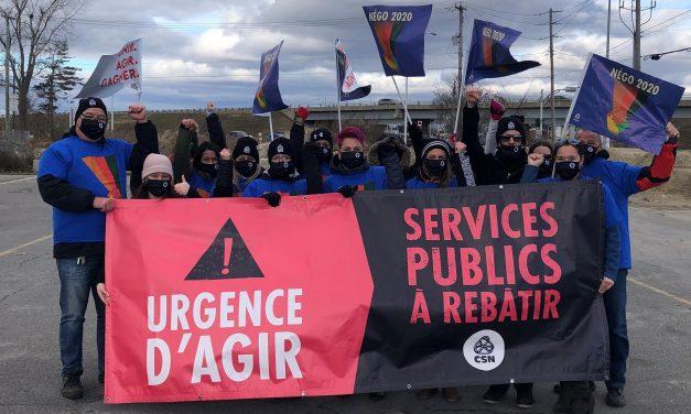 Négociation du secteur public : manifestations en appui aux travailleuses et aux travailleurs des services publics