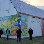 Une première fresque géante prend place dans le paysage montcalmois