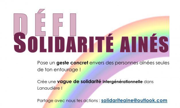 Défi Solidarité aînés : un appel à tous à passer à l'action