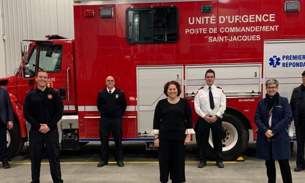 Le Service de sécurité des incendies de Saint-Jacques se joint à la MRC de Montcalm