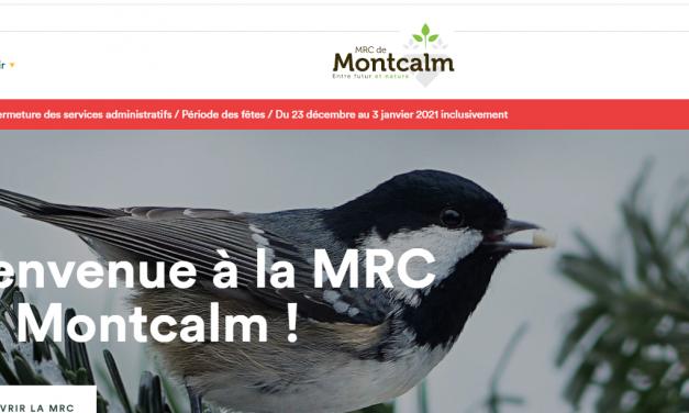 Un nouveau site web pour la MRC de Montcalm