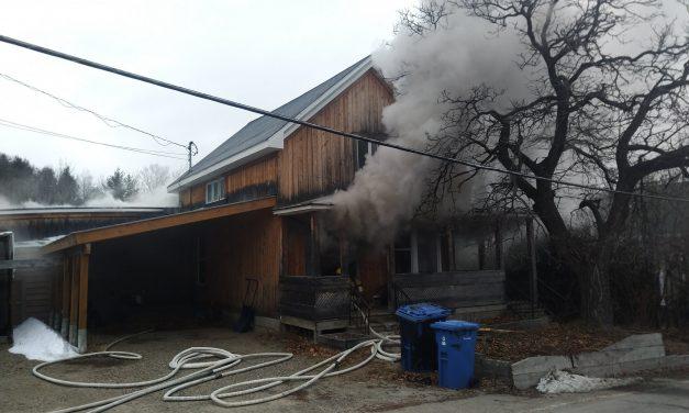 Saint-Gabriel-de-Brandon : une résidence endommagée par un incendie