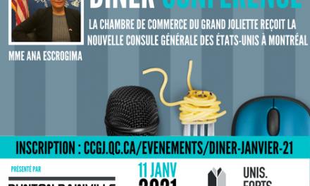 La Chambre de Commerce du Grand Joliette reçoit  Mme Ana Escrogima, nouvelle Consule générale des États-Unis à Montréal