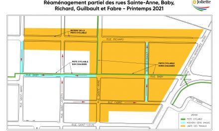 Réaménagement partiel des rues Sainte-Anne, Baby, Richard, Guilbault et Fabre au printemps 2021