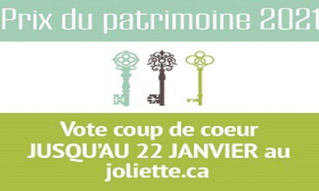 Prix du patrimoine à Joliette: vote coup de cœur!