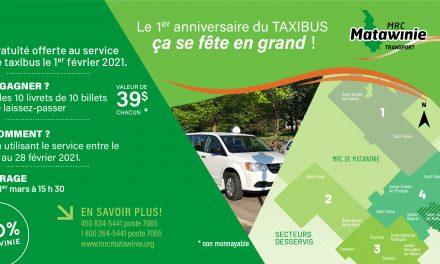 Pour fête son succès, la MRC de Matawinie offre la gratuité pour son service de taxibus