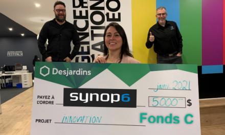 Desjardins Entreprises Lanaudière est fier d'appuyer Synop6