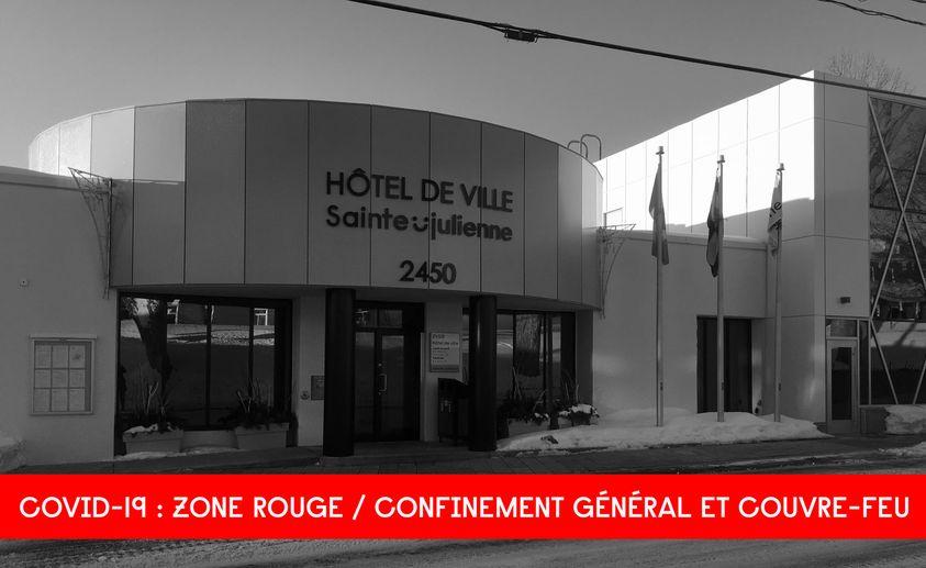 Sainte-Julienne: confinement général et couvre-feu