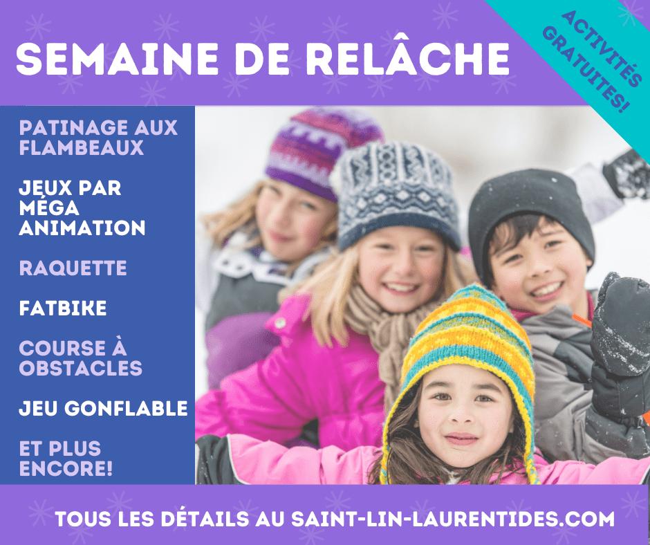 La semaine de relâche à Saint-Lin-Laurentides – Du plaisir pour toute la famille