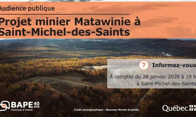 Projet minier à Saint-Michel-des-Saints : le CREL espère un suivi dépassant les conditions du décret