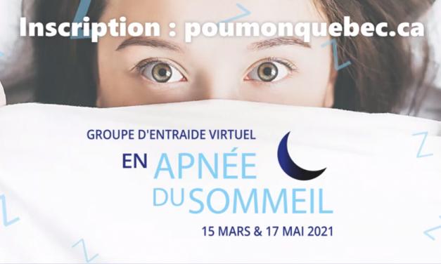 Des rencontres virtuelles pour ceux et celles qui souffrent d'apnée du sommeil