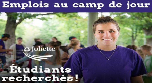 Des emplois d'été pour étudiants au camp de jour de Joliette