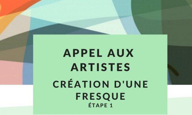 Appel aux artistes – Création d'une fresque