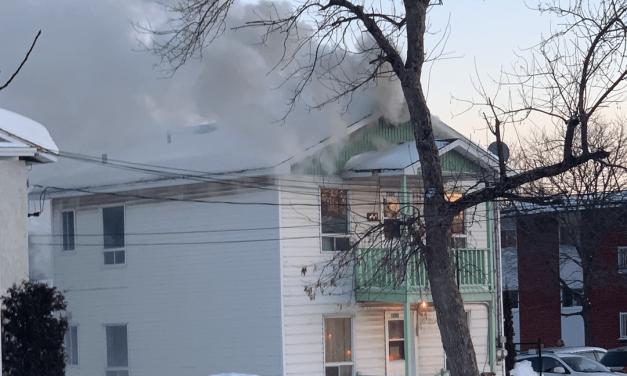 Joliette : un incendie fait un blessé