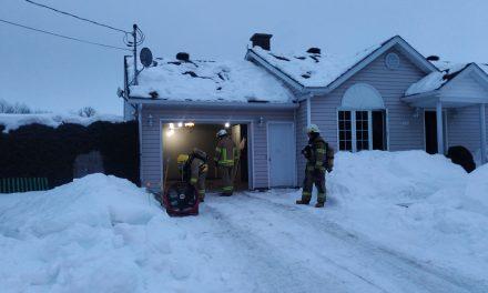 Début d'incendie à Saint-Gabriel-de-Brandon