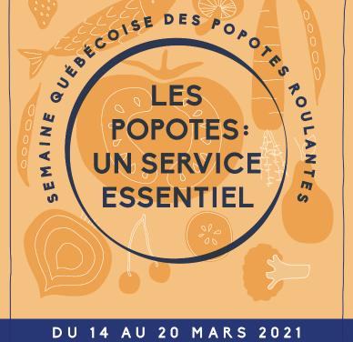 La Semaine québécoise des popotes roulantes – Un service essentiel et accessible à tous !