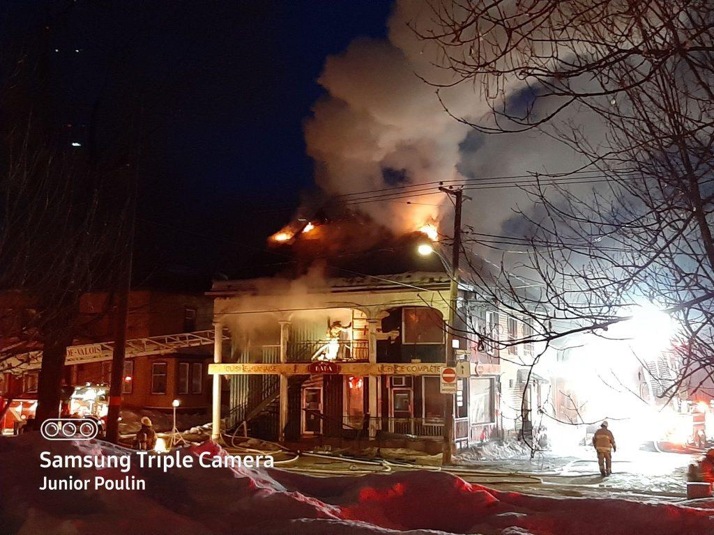 Ville Saint-Gabriel : l'ancien restaurant chez Baba détruit par un incendie