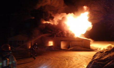 Une résidence ravagée par un incendie à Saint-Gabriel-de-Brandon