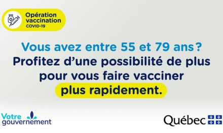 Vaccination sans rendez-vous : disponible à Joliette et à Repentigny les 17 et 18 avril