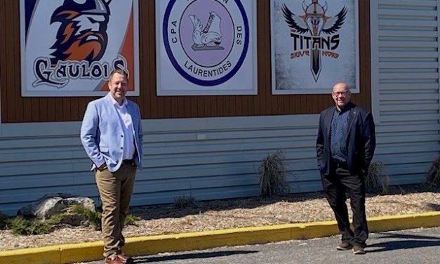 Louis-Charles Thouin salue les investissements de plus de 500 000 $ des gouvernements du Québec et du Canada pour la rénovation de la toiture du Centre sportif de Saint-Lin-Laurentides