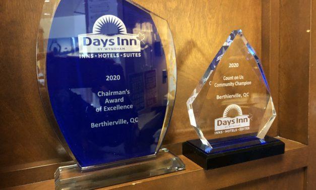 L'Hôtel Days Inn Berthierville reçoit pour une cinquième année consécutive le prix « Chairman Awards »