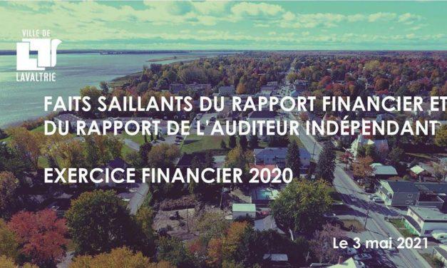Lavaltrie : dépôt du rapport financier 2020