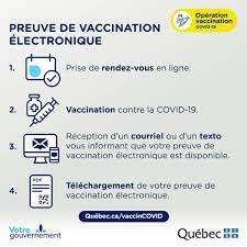 Preuve de vaccination contre la COVID-19 et vaccination hors Québec