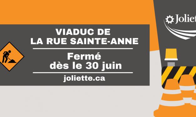 Fermeture du viaduc de la rue Sainte-Anne à compter du 30 juin
