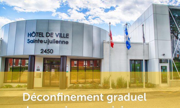 Déconfinement graduel des services municipaux à Sainte-Julienne