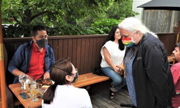Manon Massé dans Lanaudière en appui à la nation atikamekw