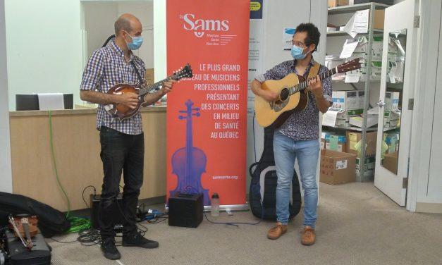 Se faire vacciner au son de la musique dans Lanaudière