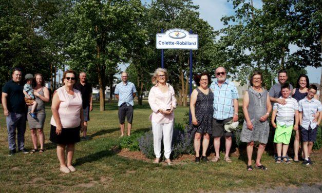 Le parc Notre-Dame renommé en hommage à l'ex-conseillère municipale Colette Robillard