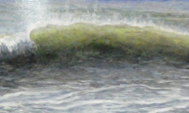 Exposition de peintures à l'huile par Christiane Legault-Lefebvre à la bibliothèque de Sainte-Mélanie