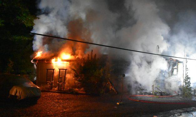 Incendie de bâtiment à Sainte-Julienne