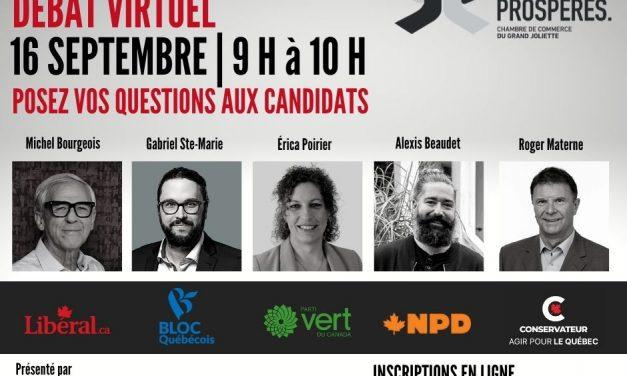 Élections fédérales – Débat virtuel des candidats dans Joliette