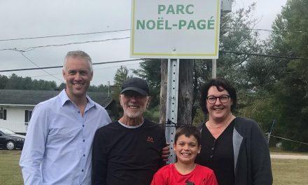 Inauguration du parc Noël Pagé dans le domaine du lac Bastien à Saint-Alphonse-Rodriguez