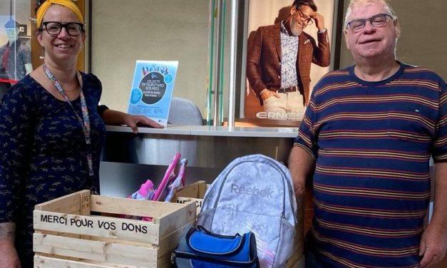 Un grand élan de générosité pour la première collecte de fournitures scolaires des Galeries Joliette