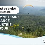 Programme d'aide à la relance de l'industrie touristique:  lancement du premier appel de projets